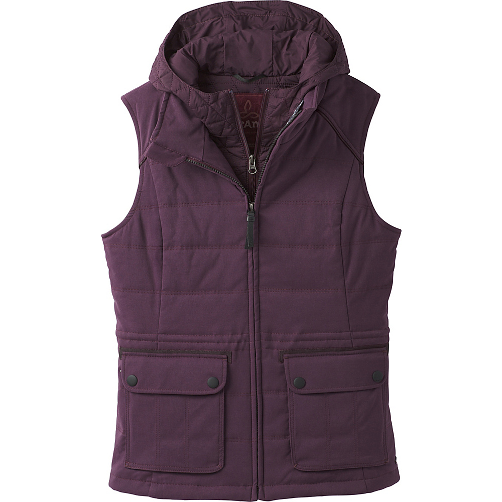 PrAna Halle Insulated Vest S - Dark Plum - PrAna Womens Apparel - Apparel & Footwear, Women's Apparel