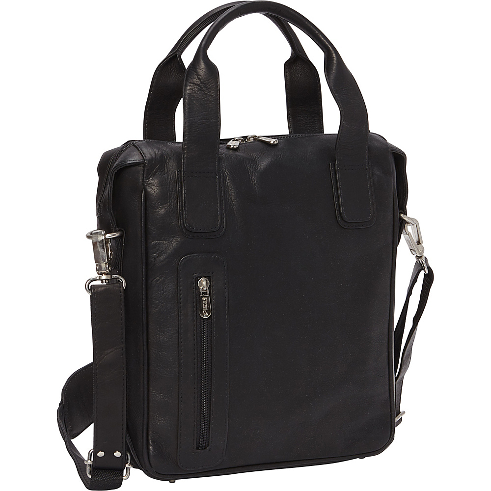 Piel Vertical Laptop Briefcase Black - Piel Non-Wheeled Business Cases - Work Bags & Briefcases, Non-Wheeled Business Cases