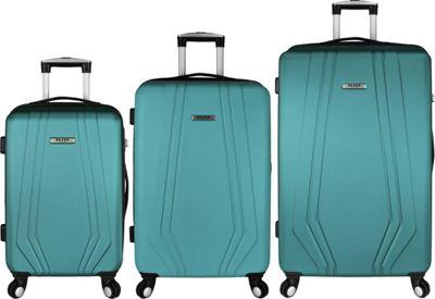 Elite Luggage Paris 3 Piece Hardside Spinner Luggage Set Teal - Elite Luggage Luggage Sets