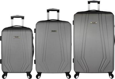 Elite Luggage Paris 3 Piece Hardside Spinner Luggage Set Grey - Elite Luggage Luggage Sets