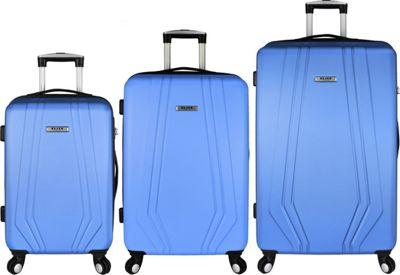 Elite Luggage Paris 3 Piece Hardside Spinner Luggage Set Blue - Elite Luggage Luggage Sets