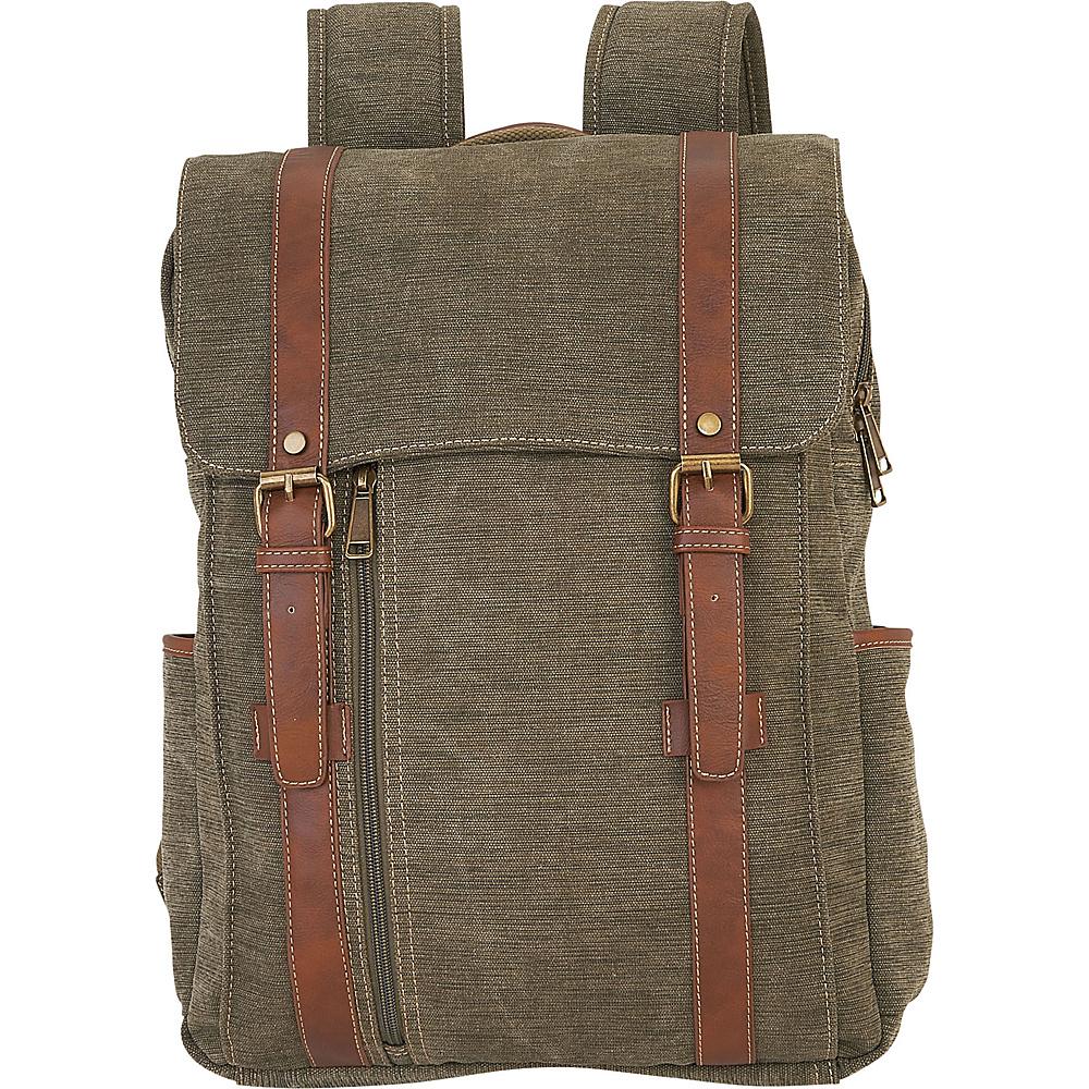 Sun N Sand Blaise Backpack Military Green - Sun N Sand School & Day Hiking Backpacks - Backpacks, School & Day Hiking Backpacks