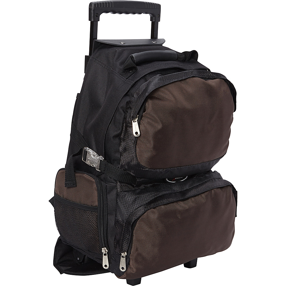 Everest Rolling Student Backpack Brown - Everest Wheeled Backpacks - Backpacks, Wheeled Backpacks