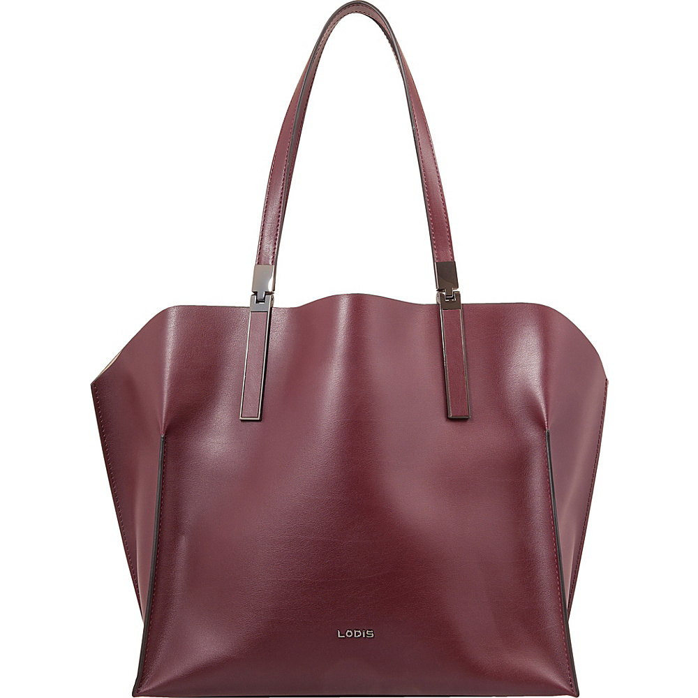 Lodis Silicon Valley RFID Anita East/West Multifunction Satchel Chianti/Taupe - Lodis Leather Handbags - Handbags, Leather Handbags