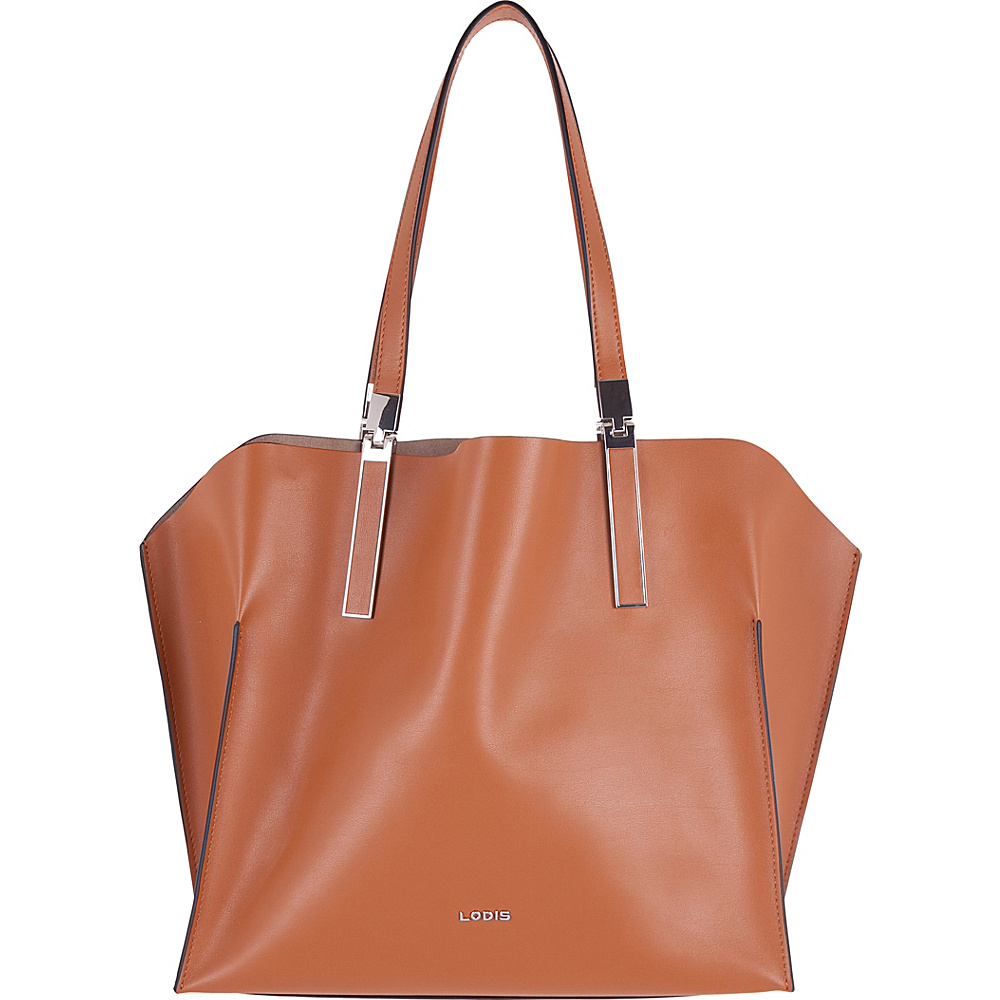 Lodis Silicon Valley RFID Anita East/West Multifunction Satchel Toffee/Taupe - Lodis Leather Handbags - Handbags, Leather Handbags