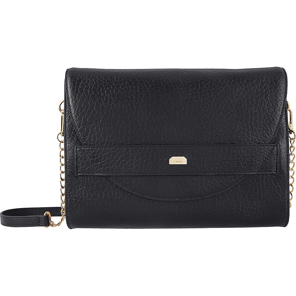 Lodis Borrego RFID Abella Clutch Crossbody Black - Lodis Leather Handbags - Handbags, Leather Handbags