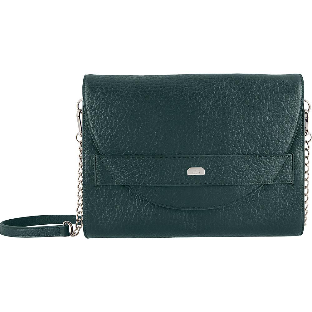 Lodis Borrego RFID Abella Clutch Crossbody Forest - Lodis Leather Handbags - Handbags, Leather Handbags