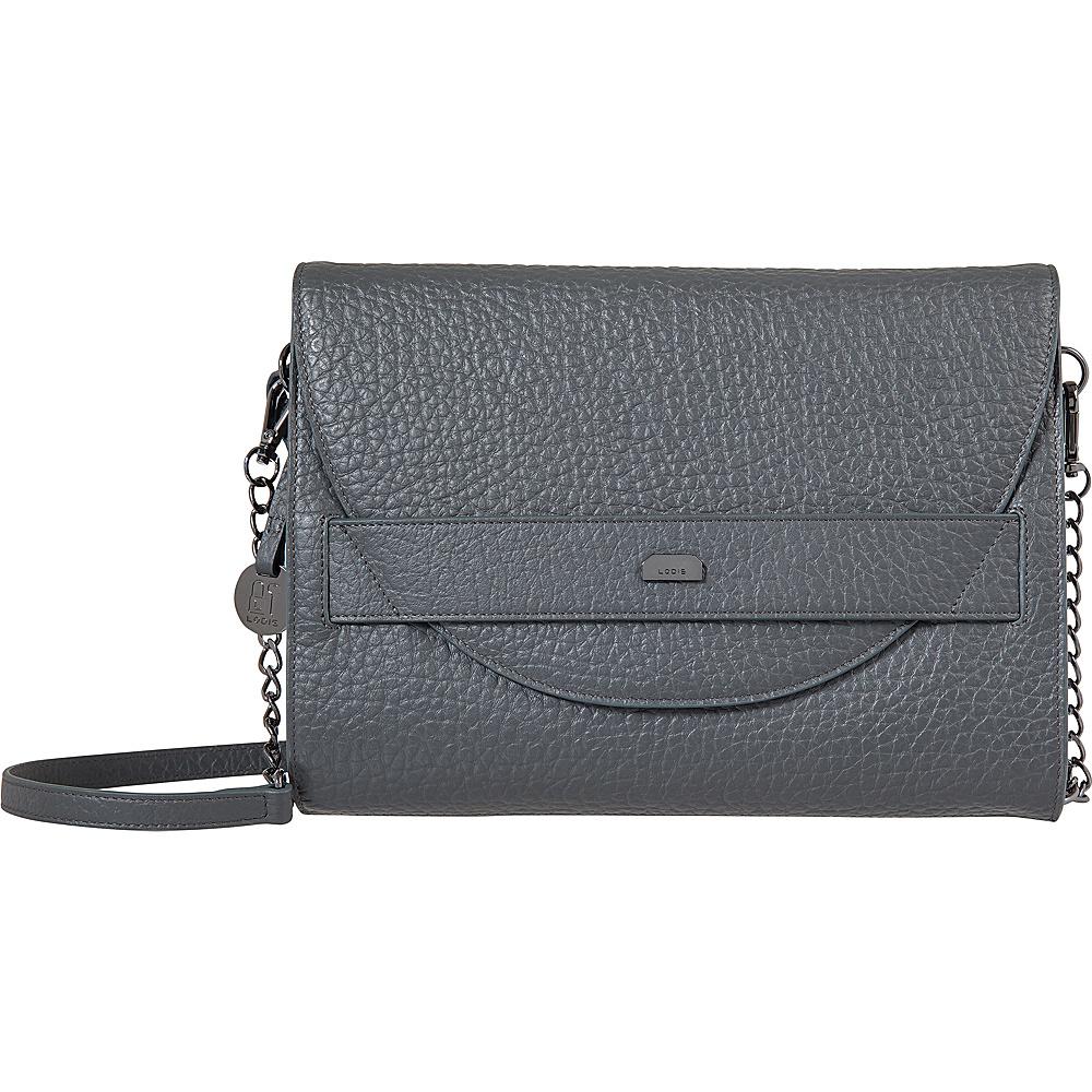Lodis Borrego RFID Abella Clutch Crossbody Slate - Lodis Leather Handbags - Handbags, Leather Handbags