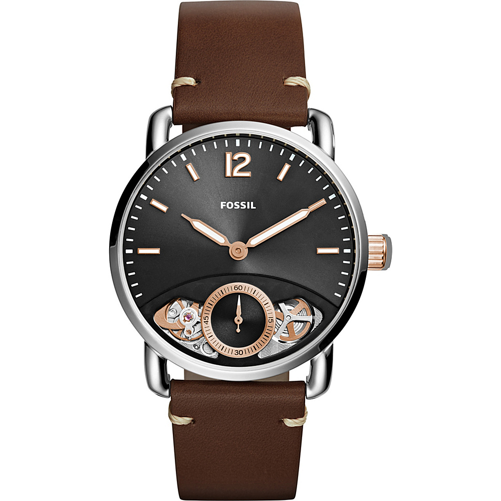 Fossil The Commuter Twist Leather Watch Brown - Fossil Watches - Fashion Accessories, Watches