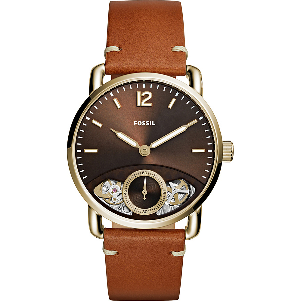 Fossil The Commuter Twist Leather Watch Tan - Fossil Watches - Fashion Accessories, Watches