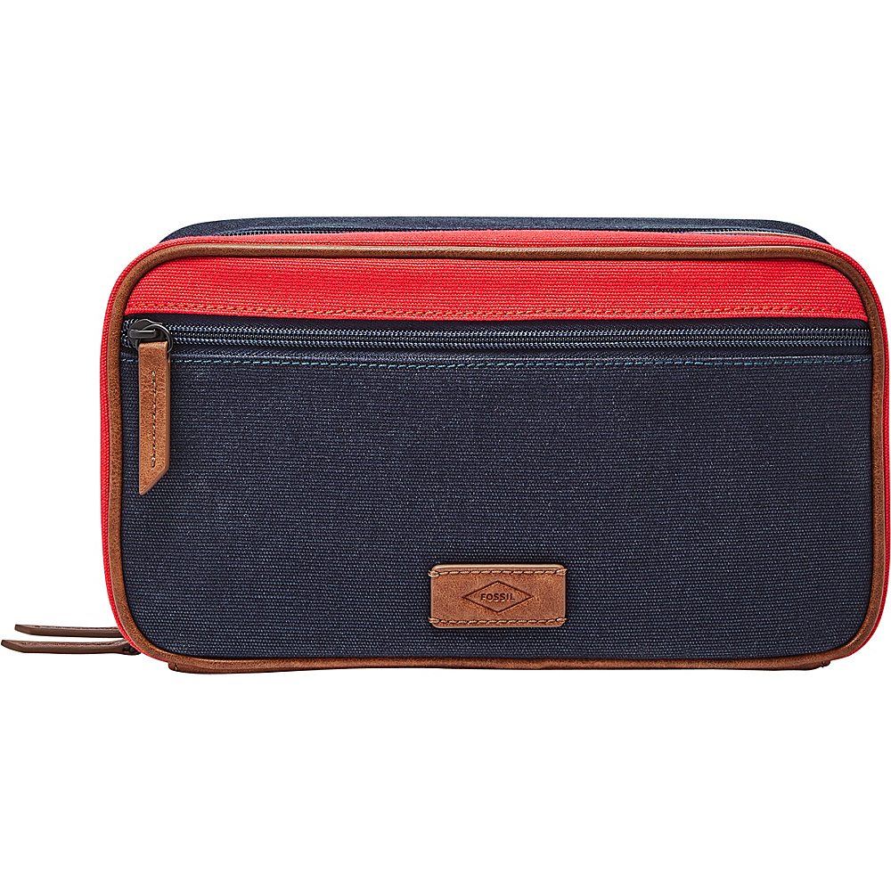 Fossil Double Zip Shave Kit Red - Fossil Toiletry Kits - Travel Accessories, Toiletry Kits
