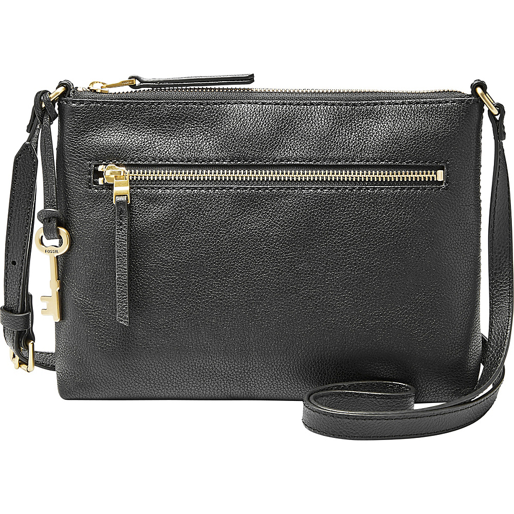 Fossil Fiona Crossbody Black - Fossil Leather Handbags - Handbags, Leather Handbags