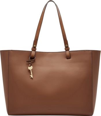 Fossil Rachel Work Tote Brown - Fossil Leather Handbags
