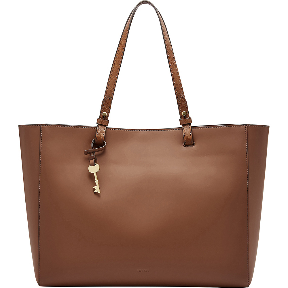 Fossil Rachel Work Tote Brown - Fossil Leather Handbags - Handbags, Leather Handbags