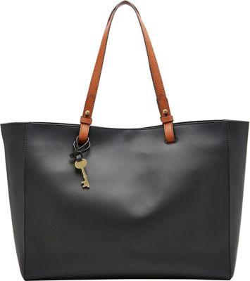 Fossil Rachel Work Tote Black - Fossil Leather Handbags