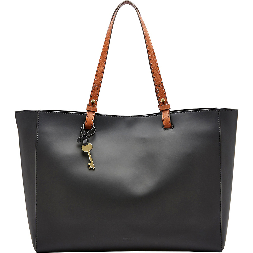 Fossil Rachel Work Tote Black - Fossil Leather Handbags - Handbags, Leather Handbags