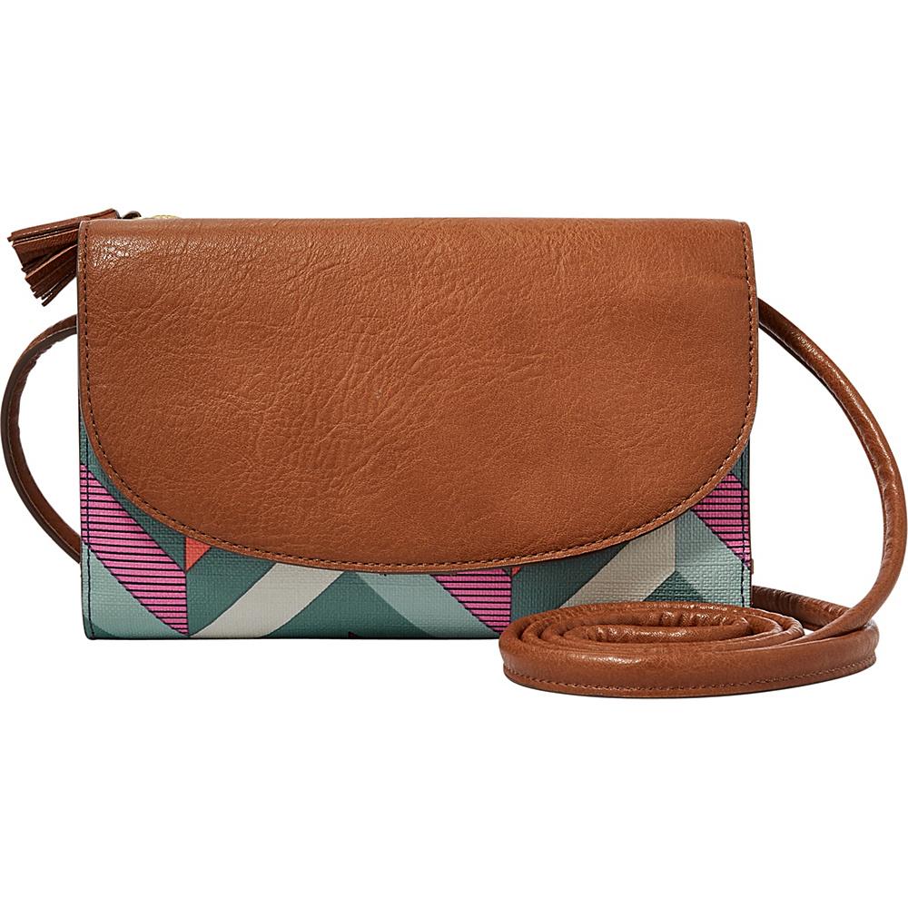 Fossil Sophia Wallet Crossbody Chevron Blue - Fossil Designer Handbags - Handbags, Designer Handbags