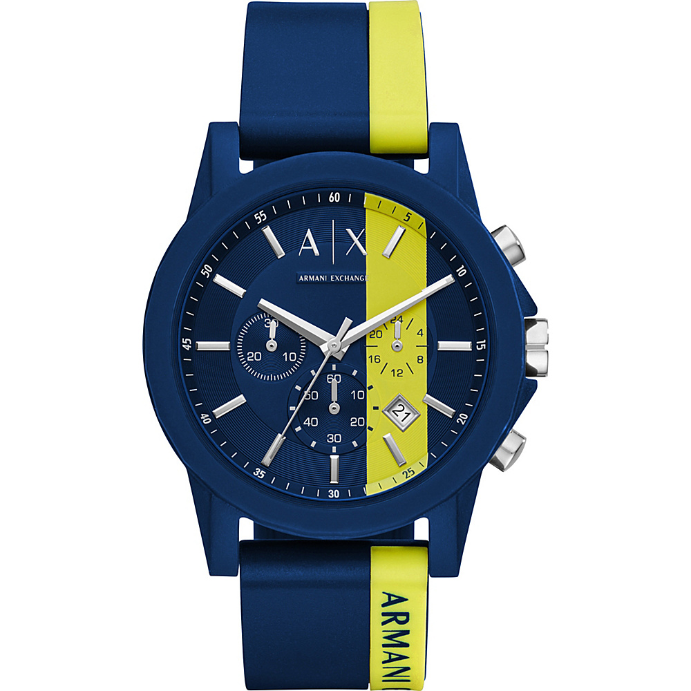 A/X Armani Exchange Active Watch Blue/Yellow - A/X Armani Exchange Watches