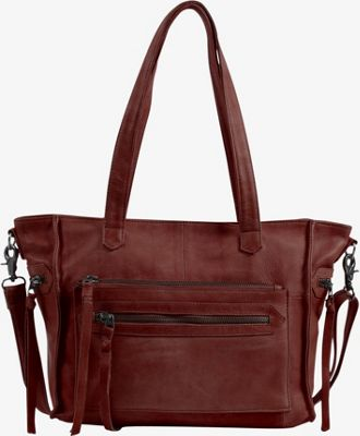 Day & Mood Anni Satchel Rusty Red - Day & Mood Leather Handbags