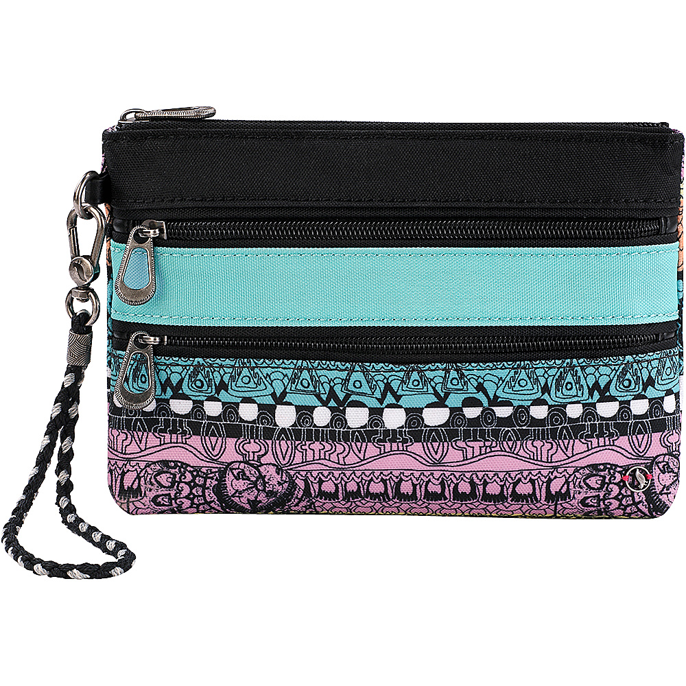 Sakroots New Adventure Echo Charging Wristlet Sherbet One World - Sakroots Womens Wallets - Women's SLG, Women's Wallets