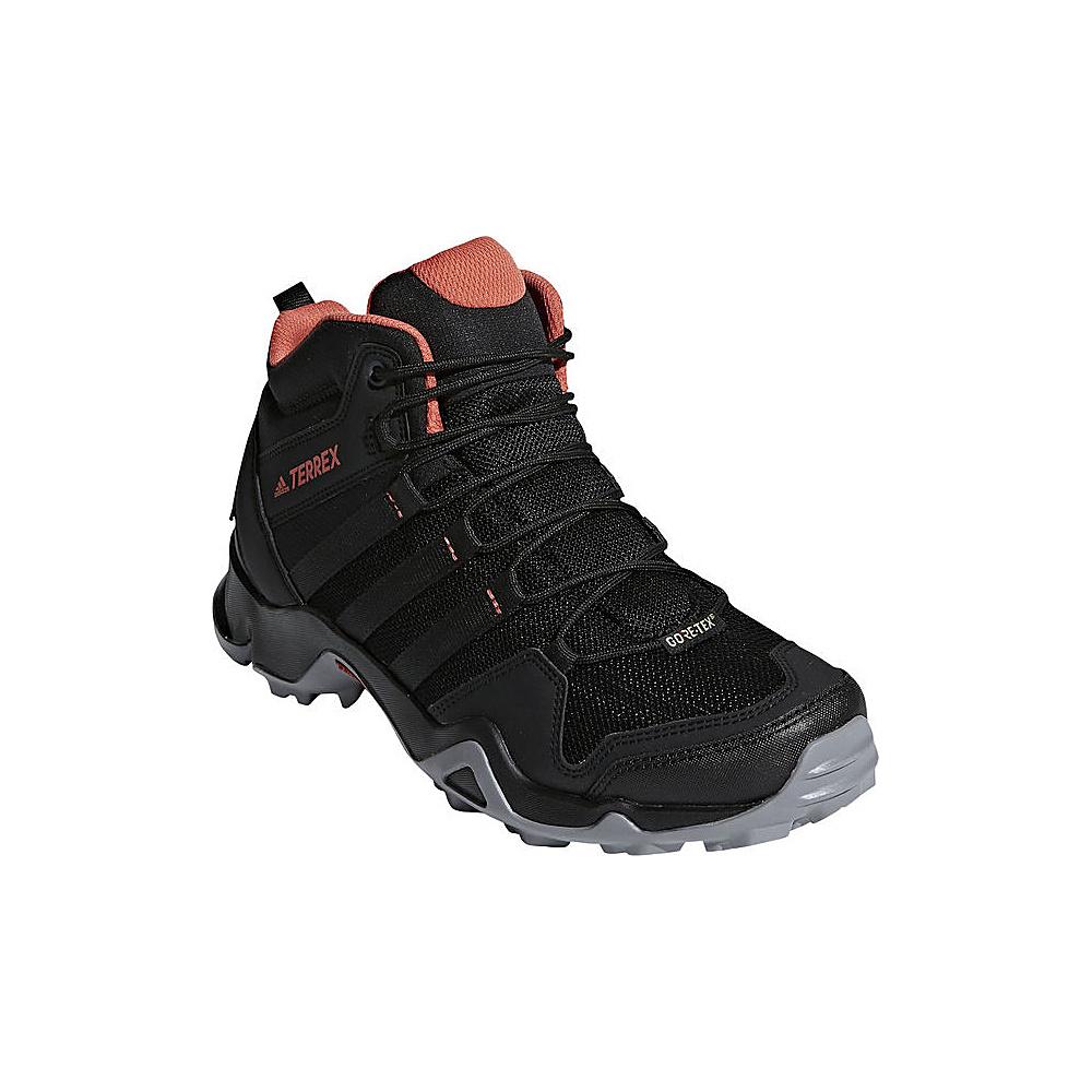 adidas outdoor Womens Terrex AX2R Mid GTX Shoe 5.5 - Black/Black/Trace Scarlet - adidas outdoor Womens Footwear - Apparel & Footwear, Women's Footwear