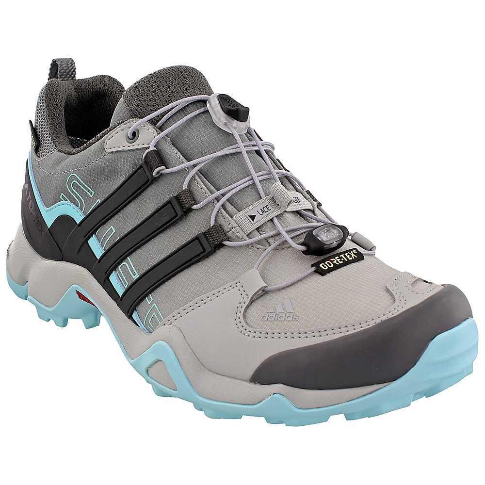 adidas outdoor Womens Terrex Swift R GTX Shoe 5 - Grey Two/Utility Black/Clear Aqua - adidas outdoor Womens Footwear - Apparel & Footwear, Women's Footwear