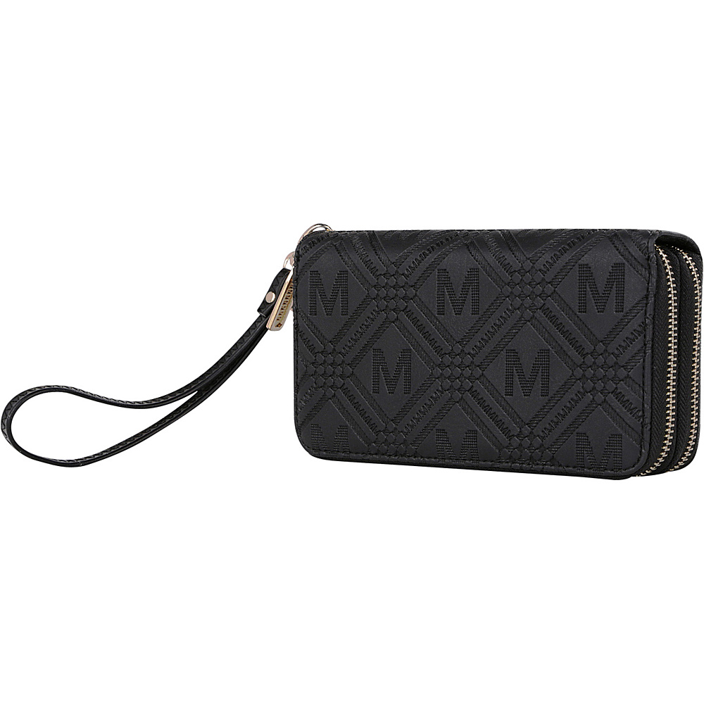 MKF Collection by Mia K. Farrow Embossed M Signature Wallet Black - MKF Collection by Mia K. Farrow Womens Wallets - Women's SLG, Women's Wallets