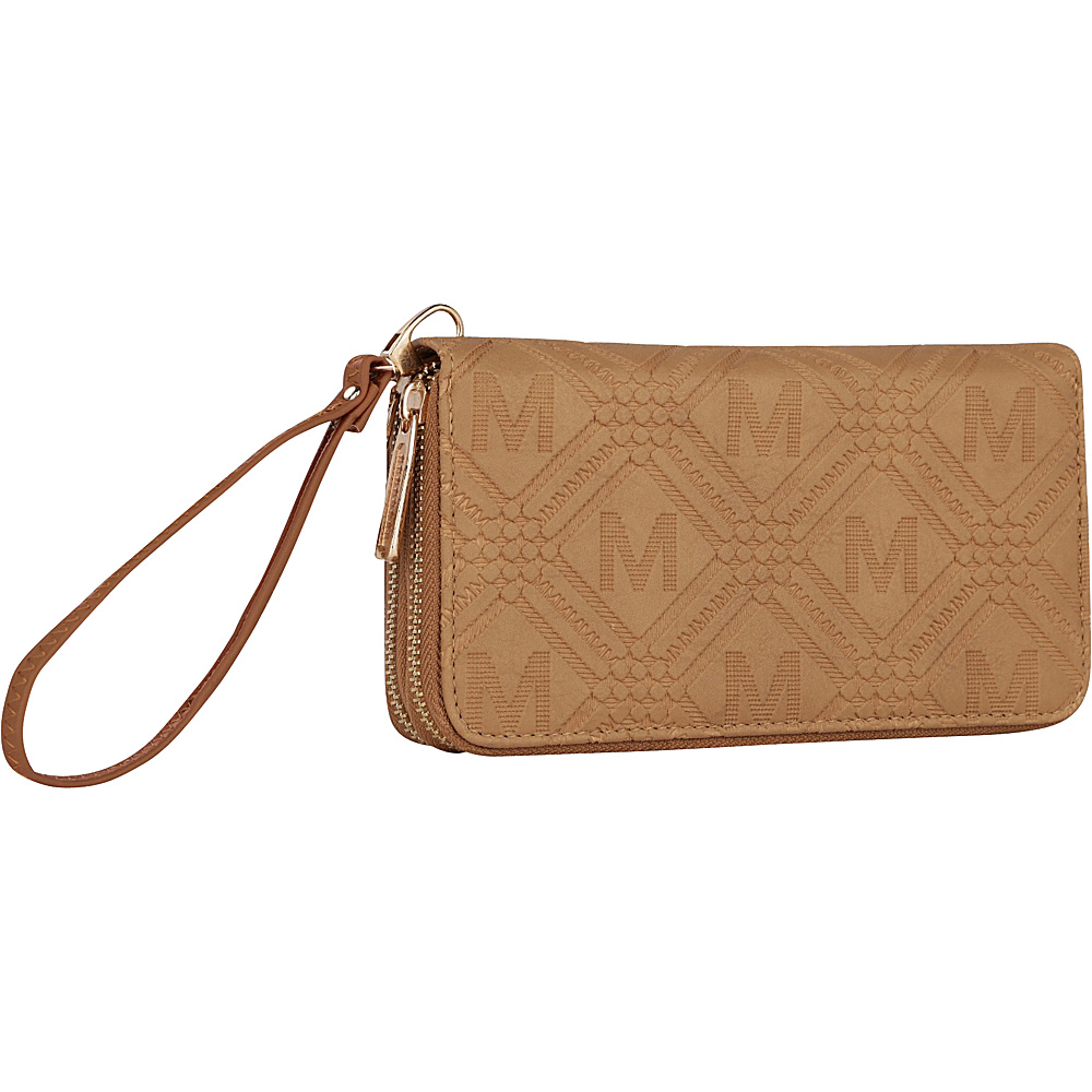 MKF Collection by Mia K. Farrow Embossed M Signature Wallet Beige - MKF Collection by Mia K. Farrow Womens Wallets - Women's SLG, Women's Wallets