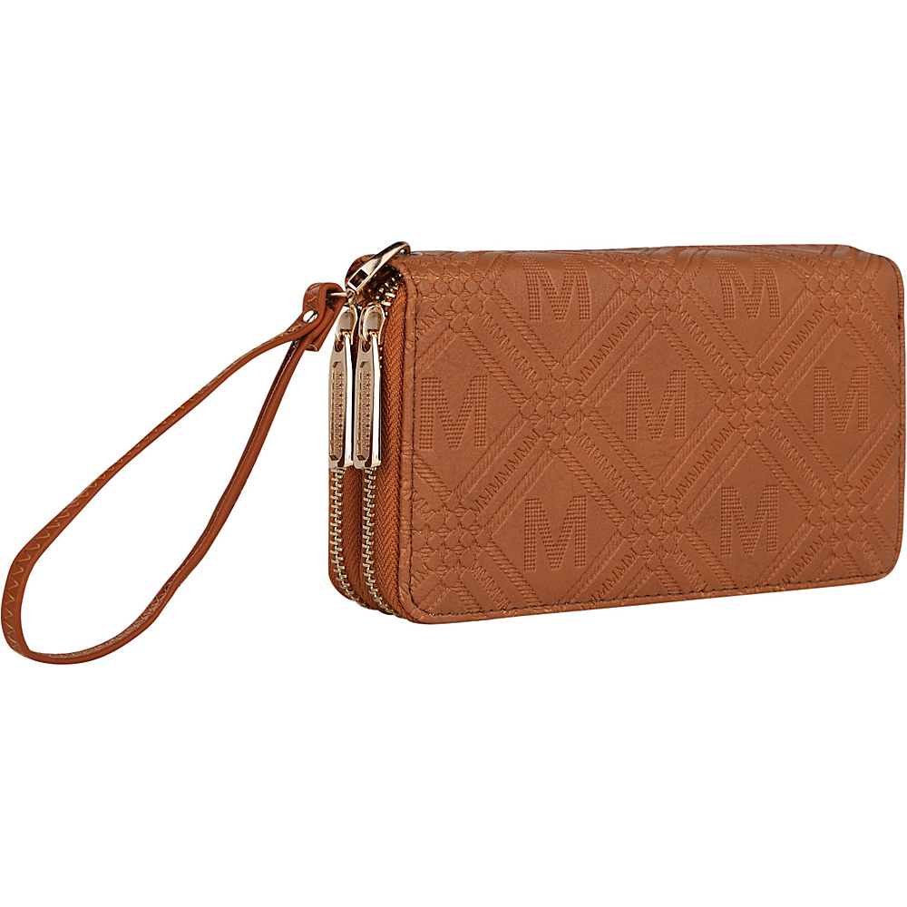 MKF Collection by Mia K. Farrow Embossed M Signature Wallet Brown - MKF Collection by Mia K. Farrow Womens Wallets - Women's SLG, Women's Wallets