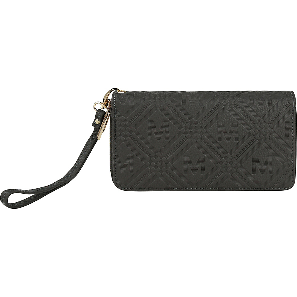 MKF Collection by Mia K. Farrow Embossed M Signature Wallet Grey - MKF Collection by Mia K. Farrow Womens Wallets - Women's SLG, Women's Wallets
