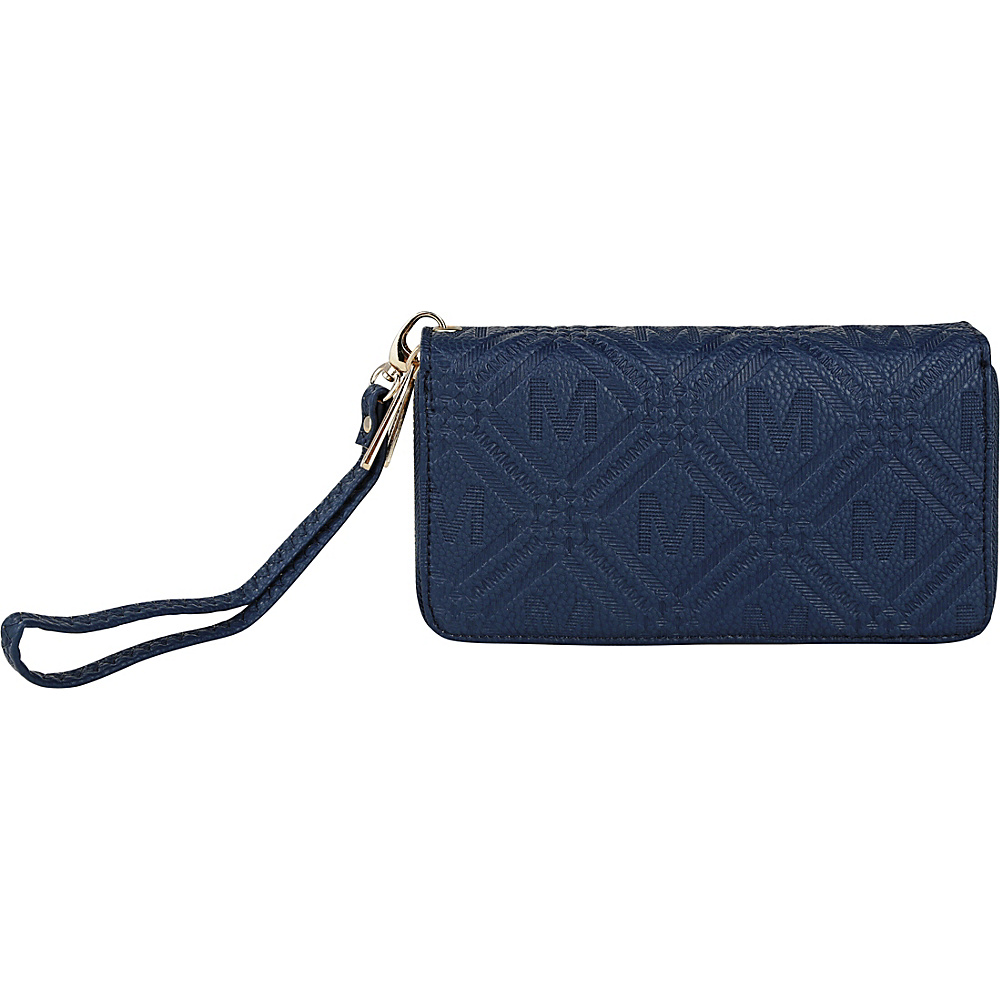 MKF Collection by Mia K. Farrow Embossed M Signature Wallet Navy - MKF Collection by Mia K. Farrow Womens Wallets - Women's SLG, Women's Wallets