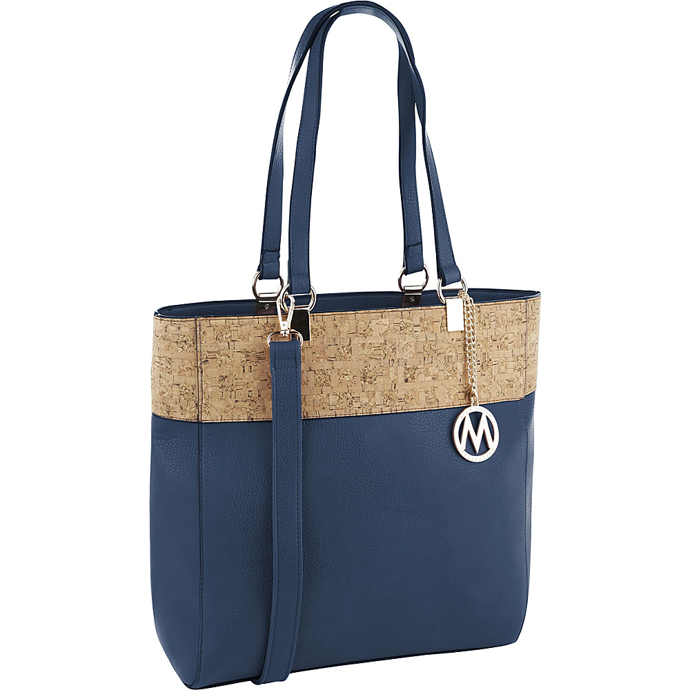 MKF Collection by Mia K. Farrow Yana Commodious Tote/Crossbody Navy - MKF Collection by Mia K. Farrow Manmade Handbags - Handbags, Manmade Handbags