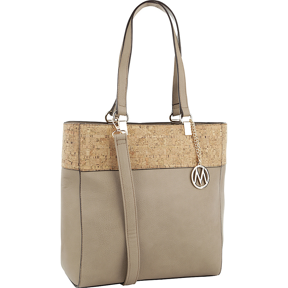 MKF Collection by Mia K. Farrow Yana Commodious Tote/Crossbody Beige - MKF Collection by Mia K. Farrow Manmade Handbags - Handbags, Manmade Handbags