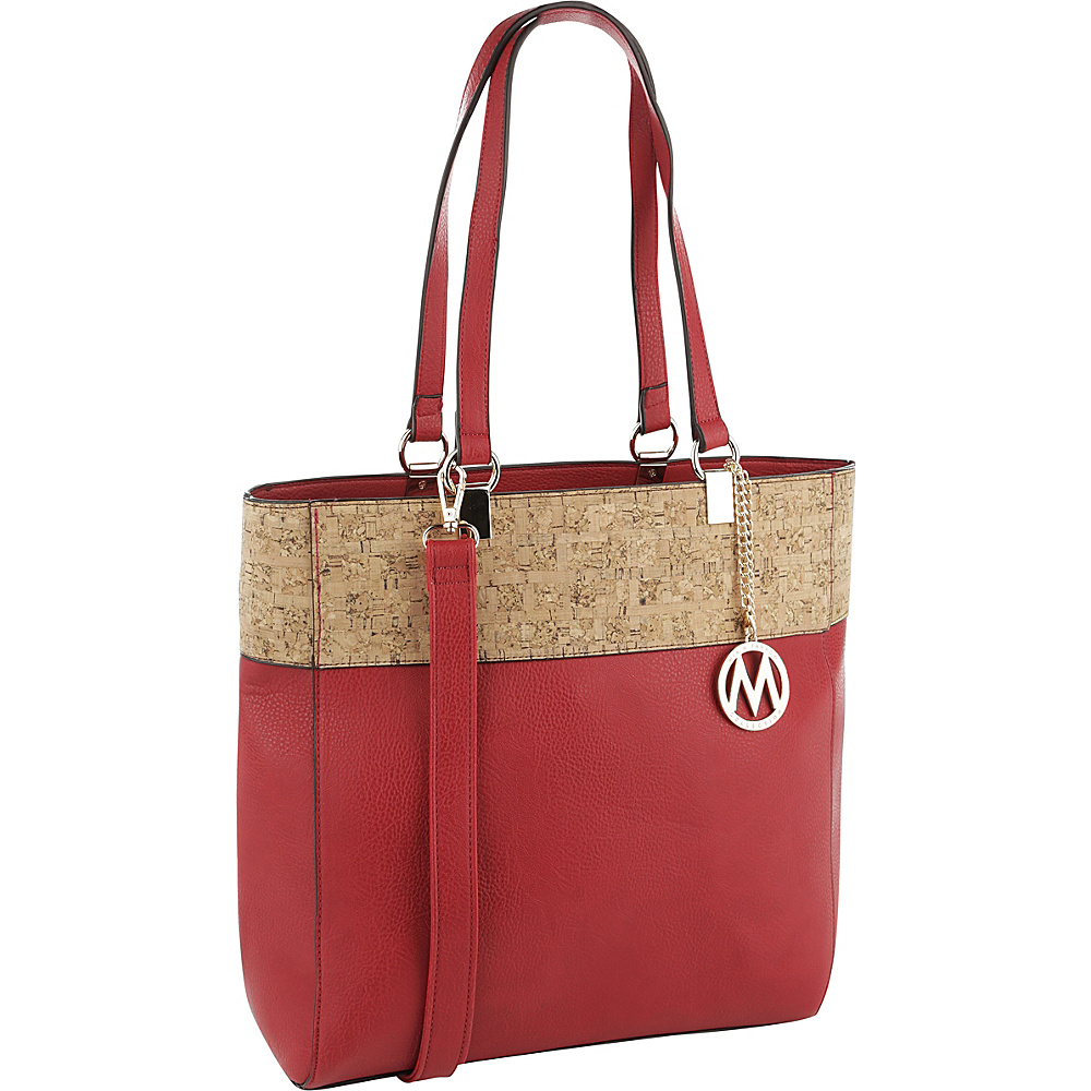 MKF Collection by Mia K. Farrow Yana Commodious Tote/Crossbody Red - MKF Collection by Mia K. Farrow Manmade Handbags - Handbags, Manmade Handbags