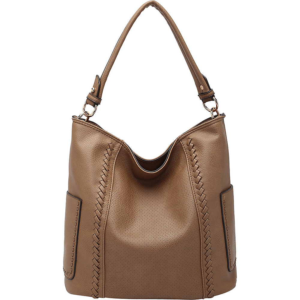 MKF Collection by Mia K. Farrow Trixie Hobo Khaki - MKF Collection by Mia K. Farrow Manmade Handbags - Handbags, Manmade Handbags