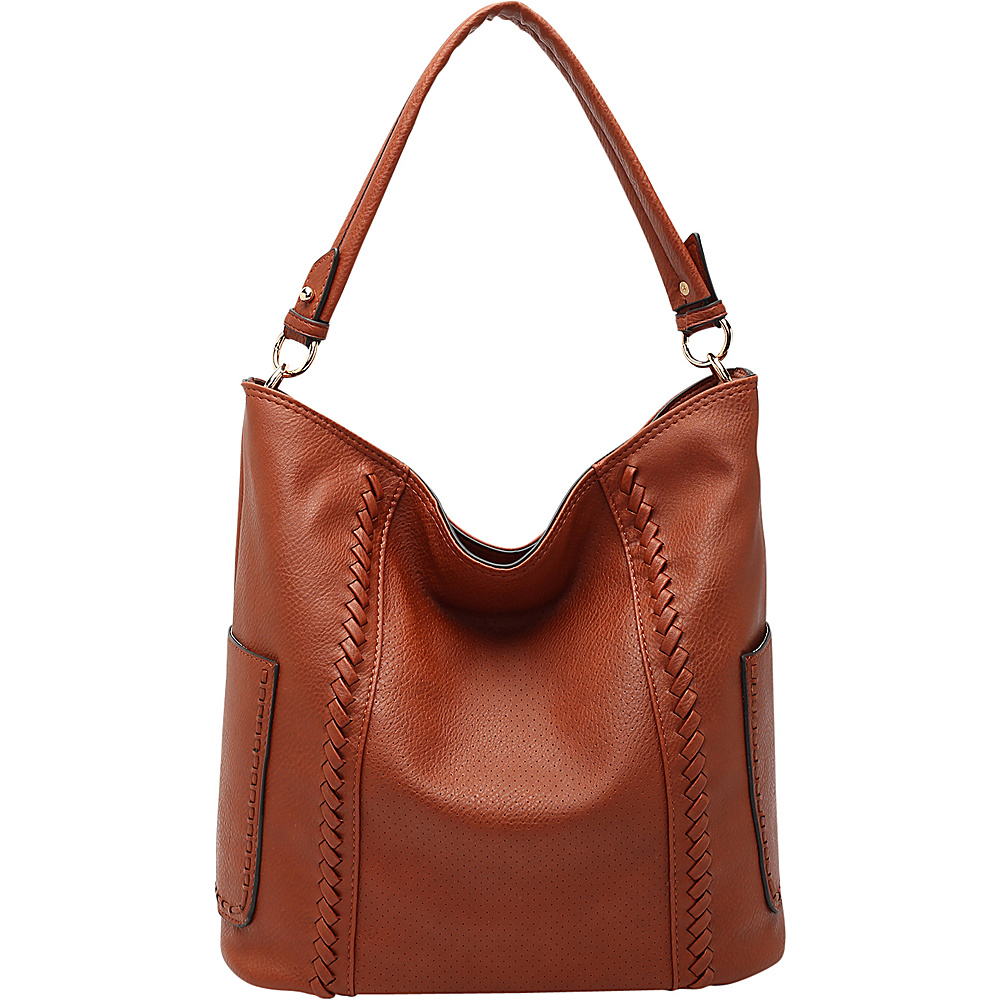MKF Collection by Mia K. Farrow Trixie Hobo Cognac Brown - MKF Collection by Mia K. Farrow Manmade Handbags - Handbags, Manmade Handbags