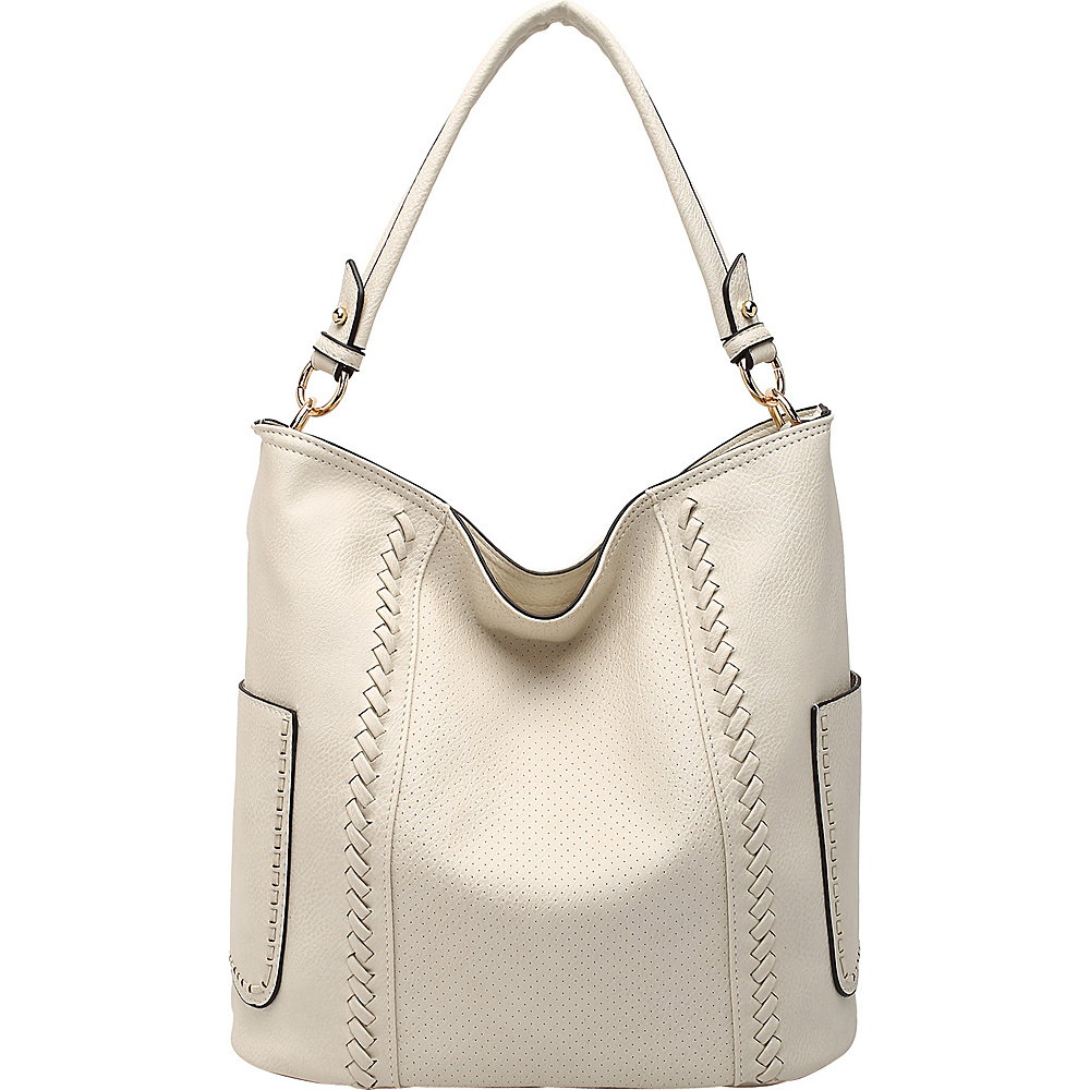 MKF Collection by Mia K. Farrow Trixie Hobo Beige - MKF Collection by Mia K. Farrow Manmade Handbags - Handbags, Manmade Handbags