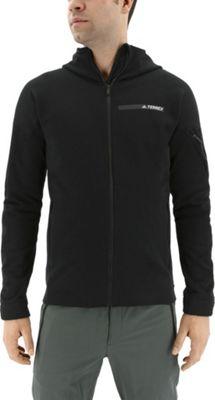 adidas outdoor Mens Terrex Climaheat Ultimate Fleece Jacket M - Black - adidas outdoor Men's Apparel