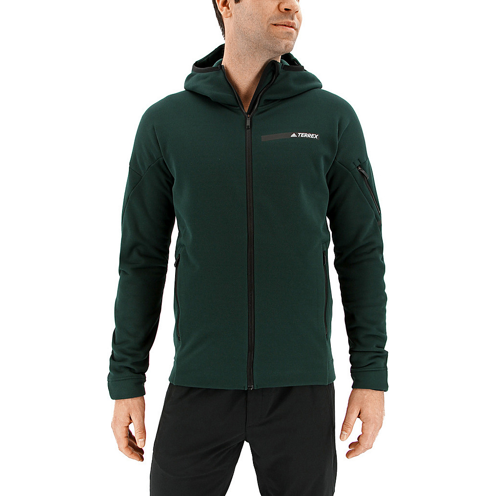 adidas outdoor Mens Terrex Climaheat Ultimate Fleece Jacket S - Green Night - adidas outdoor Mens Apparel - Apparel & Footwear, Men's Apparel