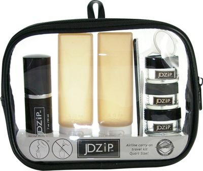 JDZip 10 Piece Travel Kit Dusk Black and Grey - JDZip Toiletry Kits