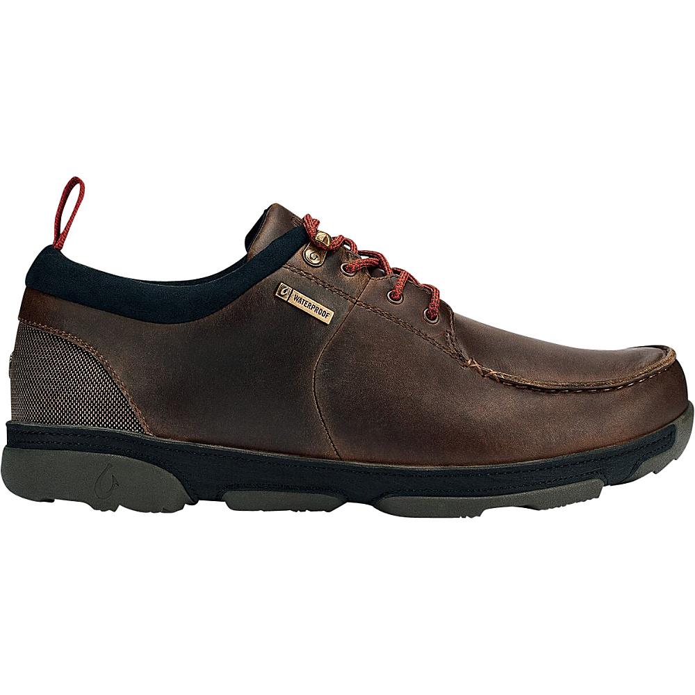 OluKai Mens Makoa WP Boot 10 - Carob/Black - OluKai Mens Footwear - Apparel & Footwear, Men's Footwear