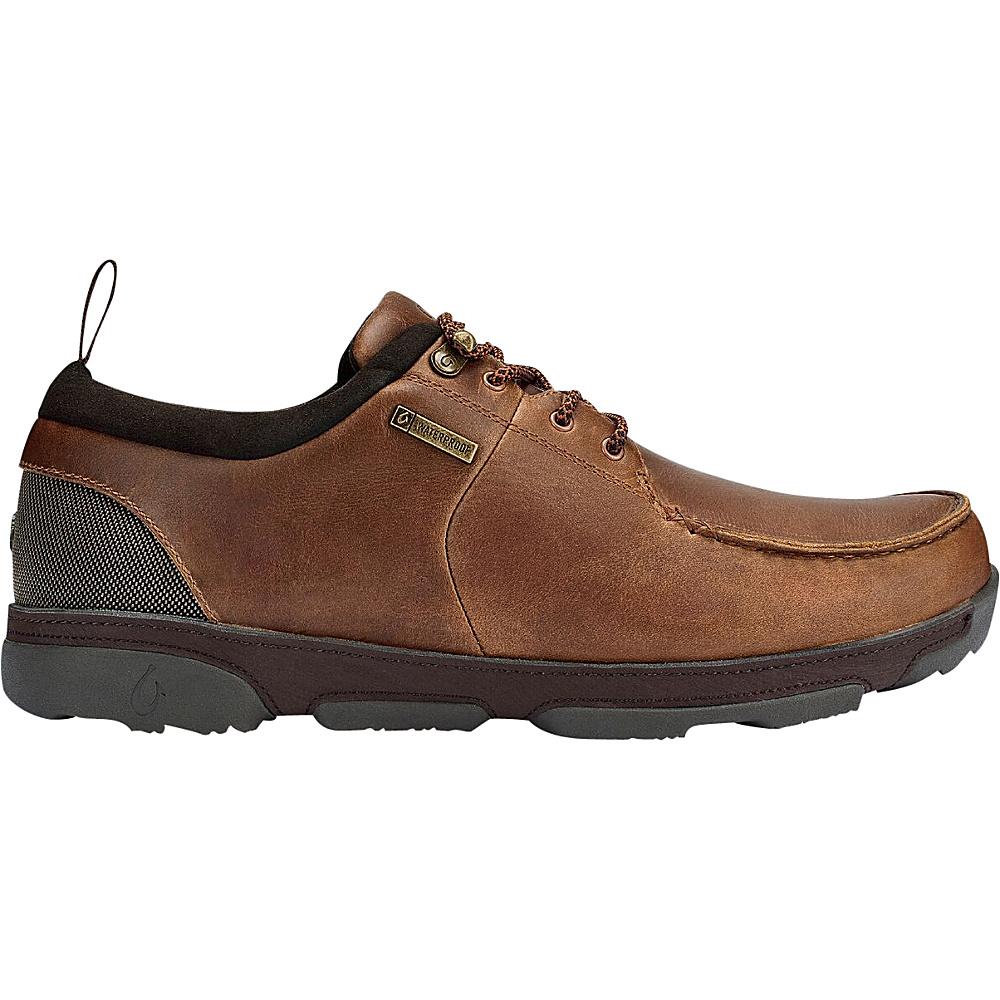 OluKai Mens Makoa WP Boot 9 - Fox/Dark Wood - OluKai Mens Footwear - Apparel & Footwear, Men's Footwear