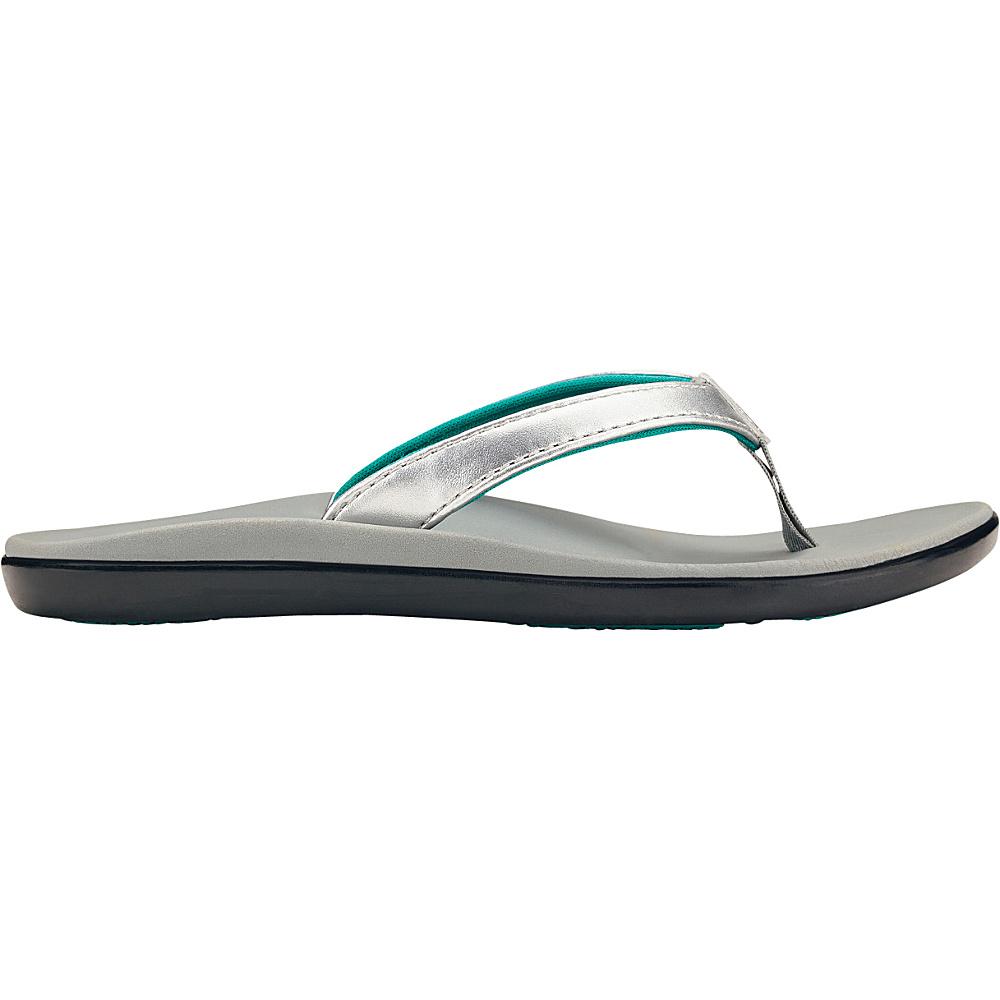 OluKai Girls Hoopio Sandal 9 (US Toddlers) - Silver/Pale Grey - OluKai Womens Footwear - Apparel & Footwear, Women's Footwear
