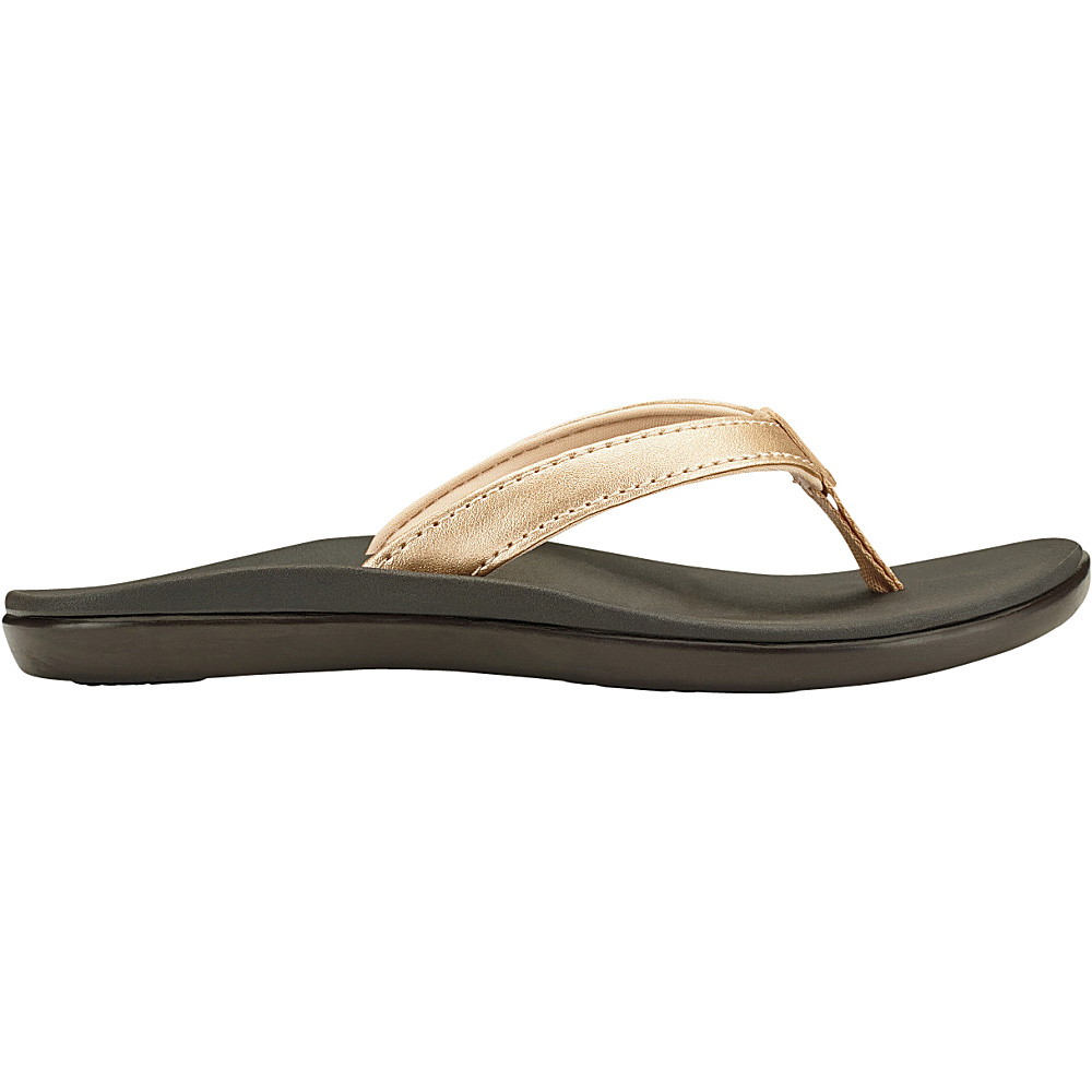 OluKai Girls Hoopio Sandal 2 (US Kids) - Bubbly/Dark Java - OluKai Womens Footwear - Apparel & Footwear, Women's Footwear