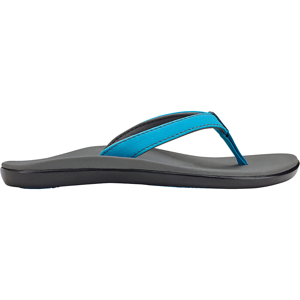 OluKai Girls Hoopio Sandal 13 (US Kids) - Vivid Blue/Charcoal - OluKai Womens Footwear - Apparel & Footwear, Women's Footwear