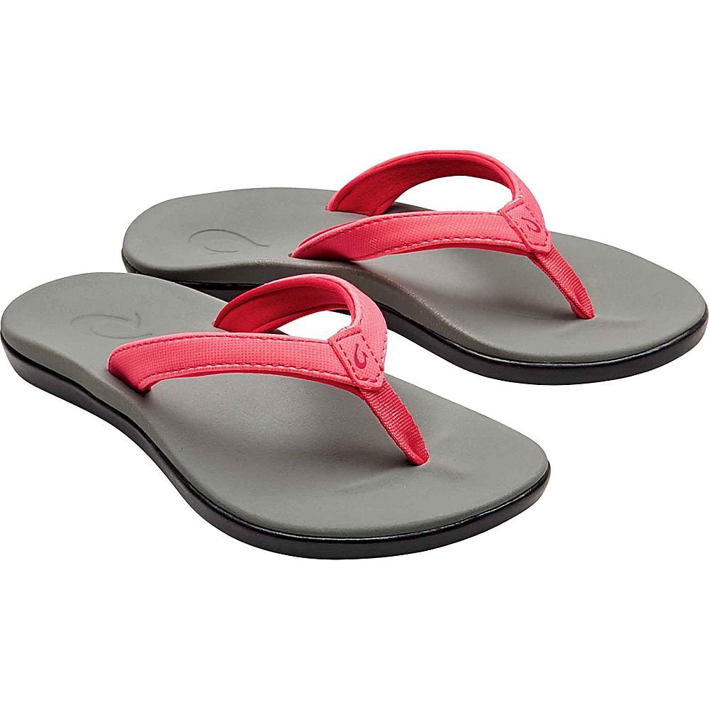 OluKai Girls Hoopio Sandal 13 (US Kids) - Guava Jelly/Pale Grey - OluKai Womens Footwear - Apparel & Footwear, Women's Footwear
