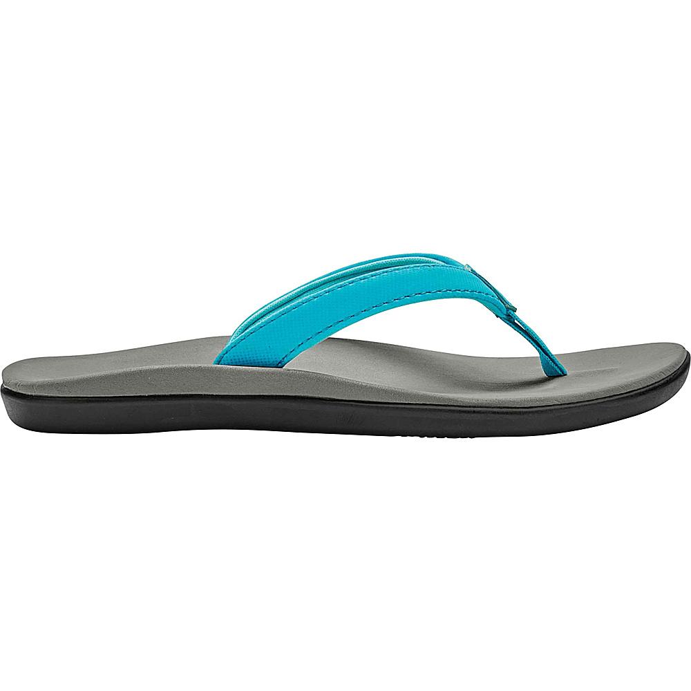 OluKai Girls Hoopio Sandal 9 (US Toddlers) - Blue Crush/Pale Grey - OluKai Womens Footwear - Apparel & Footwear, Women's Footwear