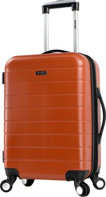 Wrangler 3-N-1 20 inch Expandable Hardside Carry-On Spinner Luggage Burnt Orange - Exclusive - Wrangler Hardside Carry-On