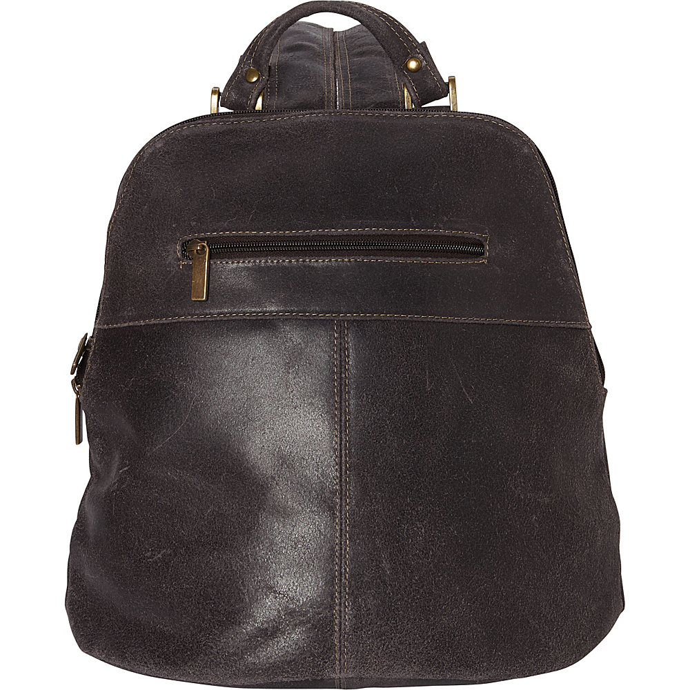 Le Donne Leather Westbury Distressed Womans Backpack Chocolate - Le Donne Leather Leather Handbags - Handbags, Leather Handbags