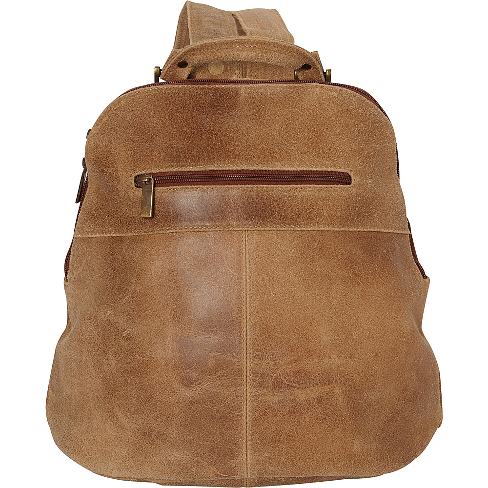 Le Donne Leather Westbury Distressed Womans Backpack Tan - Le Donne Leather Leather Handbags - Handbags, Leather Handbags